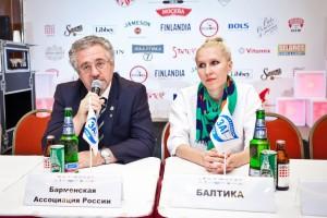 Сергей Цыро и Анна Домченко отвечают на вопросы журналистов во время пресс-конференции