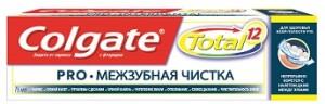 COLGATE TOTAL new design Про межзубная чистка 75 мл