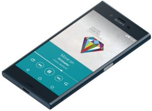 Sony-XZ-Forest-Blue-Tabletop-Front