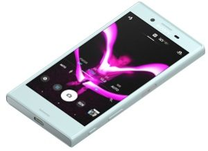 Sony Xperia X Compact Mist Blue Tabletop 2